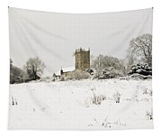 Ireland Winter Landscape With Church Tapestry