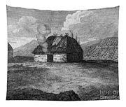 Irish Cabin, 18th Century Tapestry
