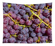 Italian Red Grape Bunch Tapestry