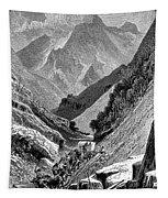 Italy: Carrara Mountains Tapestry
