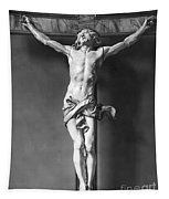 Ivory Crucifix Tapestry
