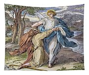 Jacobs Struggle, 19th Cent Tapestry