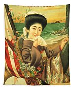 Japan Steamship Poster  1914 Tapestry