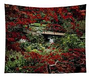 Japanese Garden, Through Acer In Tapestry