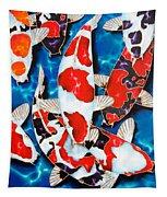 Japanese Koi Pond Tapestry