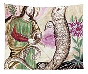 Jesus And Serpent Tapestry