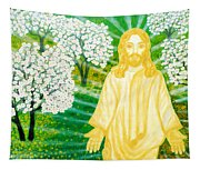 Jesus On Mount Thabor Tapestry