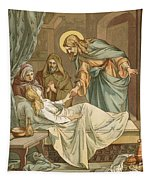 Jesus Raising Jairus's Daughter Tapestry