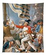 John Paul Jones Shooting A Sailor Who Had Attempted To Strike His Colours In An Engagement Tapestry