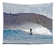 Kaneohe Bay Sufer Mcbh Tapestry