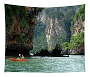 Kayaking In Thailand Tapestry