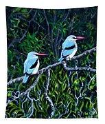 Woodland Kingfisher Tapestry