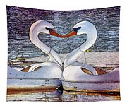 Kissing Swans Tapestry
