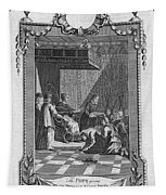 Kissing The Popes Feet Tapestry