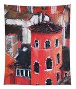 La Tour Rose In Lyon 1 Tapestry