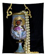 Lady Vase And Pearls Tapestry