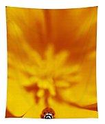 Ladybug On Poppy Flower Petal Tapestry