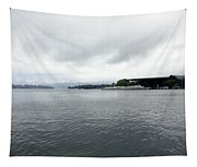 Lake Lucerne And Cruise Ships Berthed In Front Of Kkl Tapestry