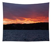 Lake Sunset Tapestry