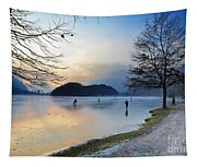 Lake With Ice Tapestry