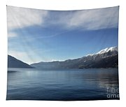 Lake With Snow-capped Mountain Tapestry