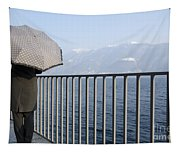 Lakefront With A Umbrella Tapestry