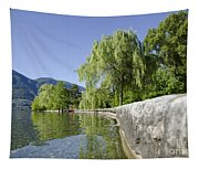 Lakefront With Trees Tapestry