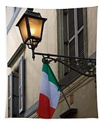 Lamp And Flag Tapestry