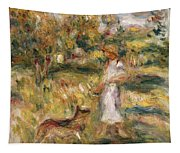 Landscape With A Woman In Blue Tapestry