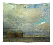 Landscape With Huts Tapestry