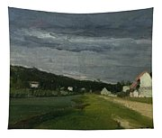 Landscape With Stormy Sky Tapestry