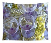 Lavender Wine Glasses Tapestry