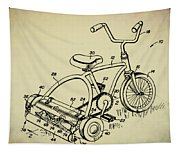 Lawnmower Tricycle Patent Tapestry