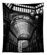 Leadenhall Market Black And White Tapestry