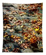 Leaves On The Boardwalk Tapestry