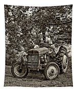 Left Fielder Sepia Tapestry