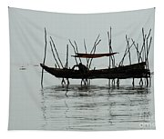 Life On Lake Tonle Sap  Tapestry
