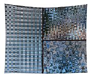 Light Blue And Brown Textural Abstract Tapestry