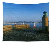 Light House At A Harbor, County Dublin Tapestry