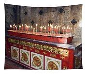 Lighted Incense Sticks Tapestry