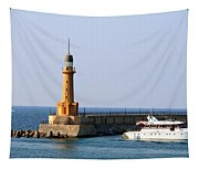 Lighthouse Along The Corniche Tapestry