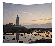 Lighthouse At Low Tide Tapestry