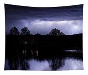 Lightning Over Coot Lake Tapestry