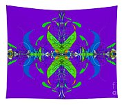 Linear Movement In Purple Tapestry