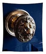 Lion Head Door Knob Tapestry