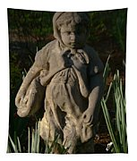 Little Girl Turned To Stone Tapestry