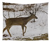 Little White Tails Mama Tapestry