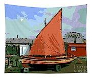 Lobster Boat Tapestry