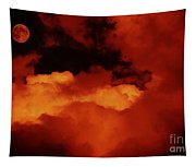 Lomo Moon And Clouds Tapestry