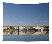 London Bridge And Reflection Tapestry